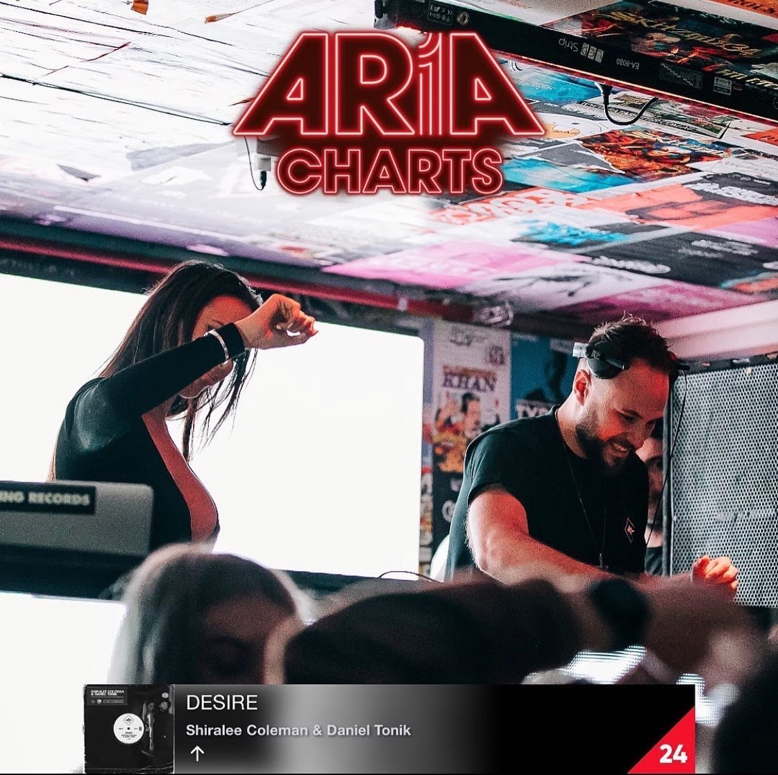 [Chart] Shiralee Coleman, Daniel Tonik, Desire #24 Aria Club Chart Shiralee Coleman, Daniel Tonik, Desire, Aria Club Chart, Pumping Records